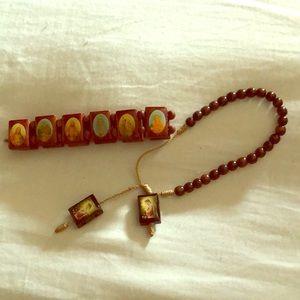Catholic Saint bracelets set
